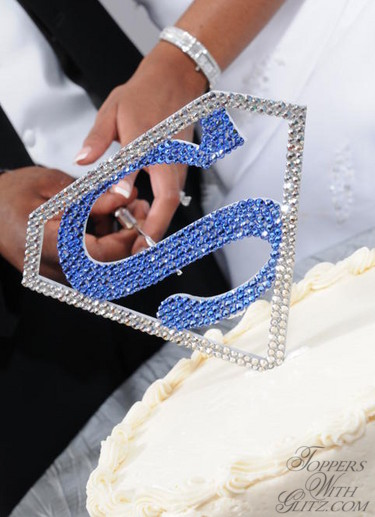 Custom logo crystal cake topper