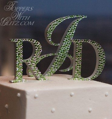 cake topper on cake with SWAROVSKI ELEMENTS